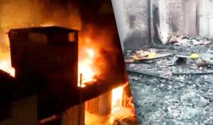 Incendio en Parque Industrial de Villa El Salvador consume varios talleres