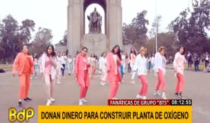 Fans de BTS en Perú se unen para ayudar a construir planta de oxígeno