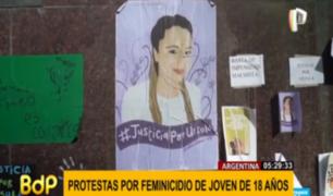 Argentina: siguen protestas por brutal feminicidio de Úrsula Bahillo