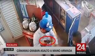Pucallpa: ladrones roban tienda de celulares con armas de fuego