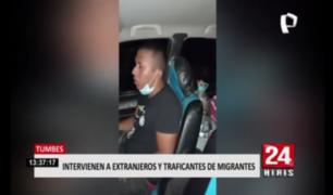 Tumbes: intervienen a extranjeros y traficantes de migrantes