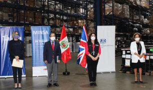 Ministerio de Salud recibió 60 ventiladores mecánicos donados por el Gobierno del Reino Unido