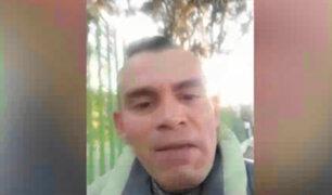 Ciudadano que publicó vídeo para matar a peruanos se arrepiente y pide perdón