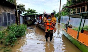 Más de 2,000 damnificados dejan inundaciones por desborde de ríos en Madre de Dios