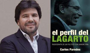 El perfil del lagarto: autor de libro sobre Vizcarra denuncia que recibe amenazas de muerte
