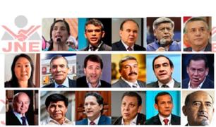Elecciones 2021: estos son las 17 fórmulas presidenciales inscritas según el JNE