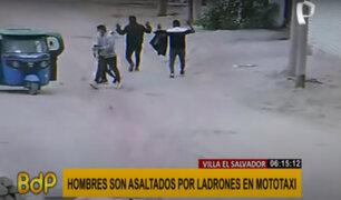 VES: hombres son asaltados por ladrones a bordo de mototaxi