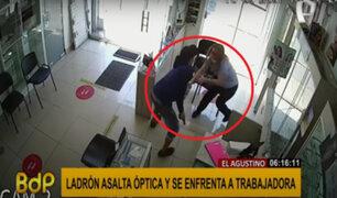 El Agustino: trabajadora se enfrenta a ladrón para evitar robo en óptica