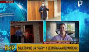 San Isidro: sujeto que amenazó con arma a repartidor fue denunciado por tentativa de homicidio