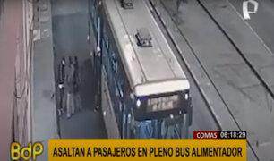 Comas: delincuentes armados asaltan a pasajeros de bus alimentador del Metropolitano