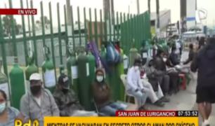 Lima sin oxígeno: dramáticas escenas se viven en planta de SJL