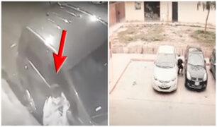 Delincuentes roban autopartes de vehículos estacionados en Los Olivos y San Luis