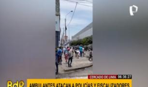 Cercado de Lima: ambulantes atacan a fiscalizadores y dejan 10 heridos