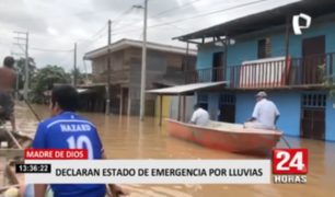 Madre de Dios: declaran estado de emergencia por intensas lluvias