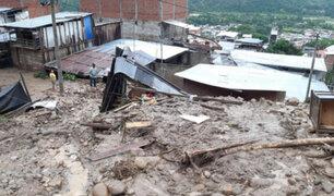 Huaico causado por intensas lluvias sepulta 15 viviendas en Chanchamayo