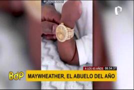 Floyd Mayweather engríe a su nieto recién nacido con lujoso regalo