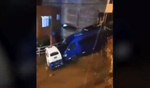 Chanchamayo: lluvias dejó calles inundadas y drenajes colapsados