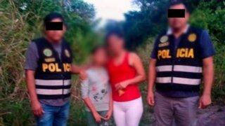 Ucayali: PNP y Fiscalía lograron rescatar a niña secuestrada en Tahuanía