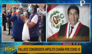 Hipólito Chaiña: decenas despiden a congresista fallecido por la covid-19