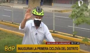 SJL: alcalde Muñoz entregó la primera ciclovía en la avenida Los Jardines