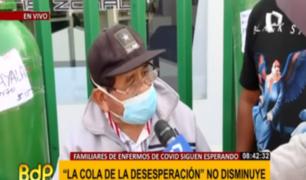 SJL: sigue la dramática lucha de familias por conseguir oxígeno