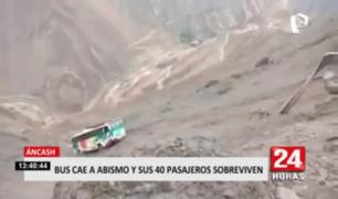 Áncash: bus cae a abismo y sus 40 pasajeros sobreviven