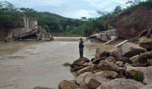 Posible desborde del río Ponasa pondría en riesgo a 10 poblados en San Martín