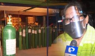Cientos hacen largas colas en nueva planta de oxígeno en Puente Piedra