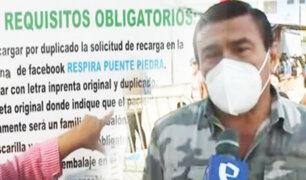 Estos son los requisitos para acceder al oxígeno gratuito en Puente Piedra