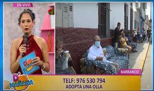 """""""Adopta una olla"""": Municipalidad de Lima entrega víveres a ollas comunes"""