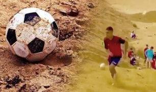 Así entrenan en la arena los futbolistas  egipcios