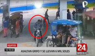 Iquitos: hampones en moto se llevan cerca de S/.6,500 de un grifo