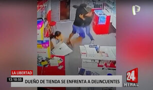 La Libertad: dueño de un local se enfrenta a delincuentes, pero casi lo matan a balazos