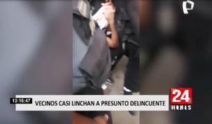 Los Olivos: vecinos casi linchan a presunto delincuente