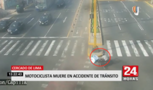 Motociclista pierde la vida en accidente de tránsito