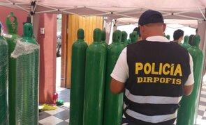 Intervienen local clandestino que vendía balones de oxígeno a S/ 3 500