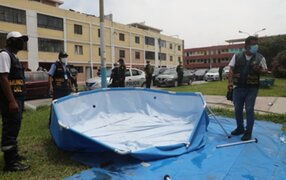 Realizan operativos en el Callao para retirar piscinas portátiles de la calle