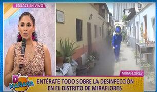 """D'Mañana   Realizan desinfección en quintas de Miraflores: """"son focos potenciales de contagio"""""""