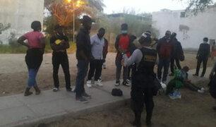 Haitianos ilegales fueron intervenidos deambulando por calles y plazas de Piura