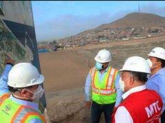 Chancay: Ministro de Transporte inspeccionó obras del Terminal Portuario