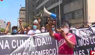 Mesa Redonda: comerciantes formales exigen ampliación del aforo