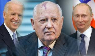 Gorbachov insta a Putin y Biden a restringir fabricación de armas nucleares