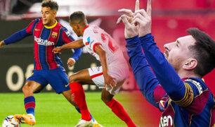 Barcelona venció 2-0 al Sevilla por la jornada 25 en España