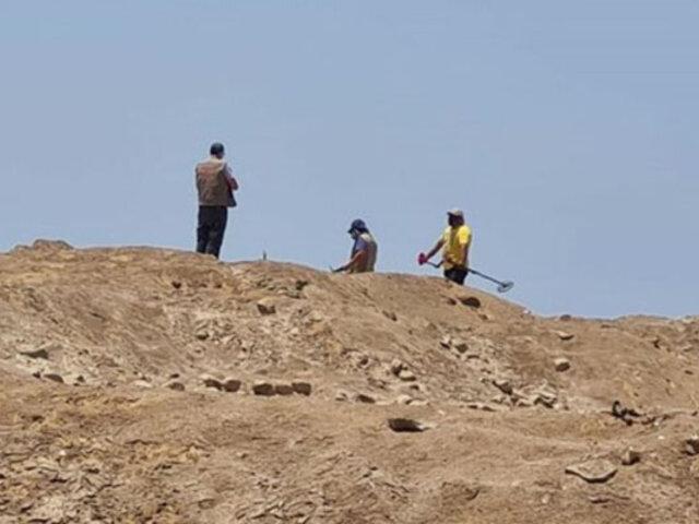 Cañete: intervienen a dos sujetos que pretendían extraer material arqueológico de una huaca