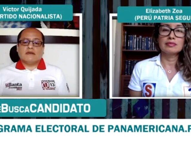 """""""Se busca candidato"""": Así fue el primer debate entre Elizabeth Zea y Víctor Quijada"""