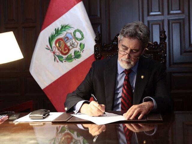 Presidente Sagasti promulgó eliminación de la inmunidad parlamentaria