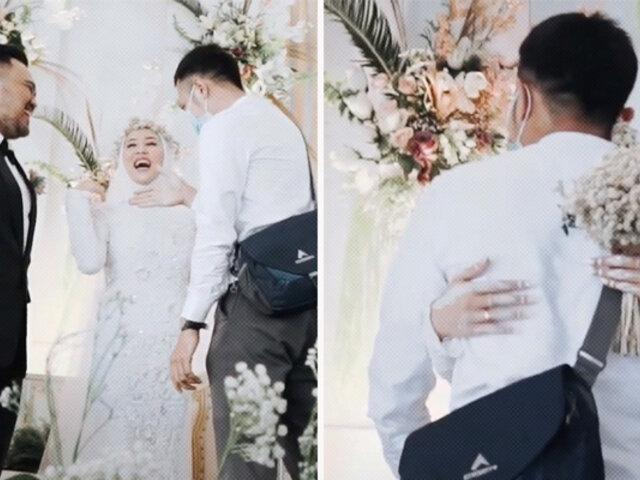 Malasia: novia abraza por última vez a su expareja segundos después de casarse