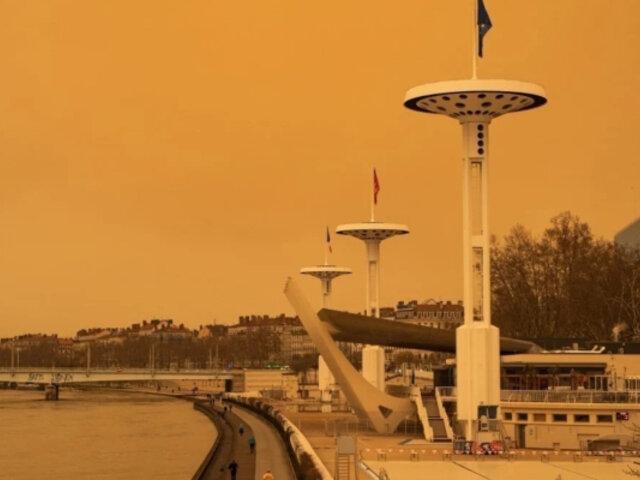 Tormenta de arena en el Sahara tiñe de amarillo los cielos de Suiza y Francia