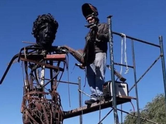 Diego Maradona: le rendirán homenaje con increíble escultura de hierro