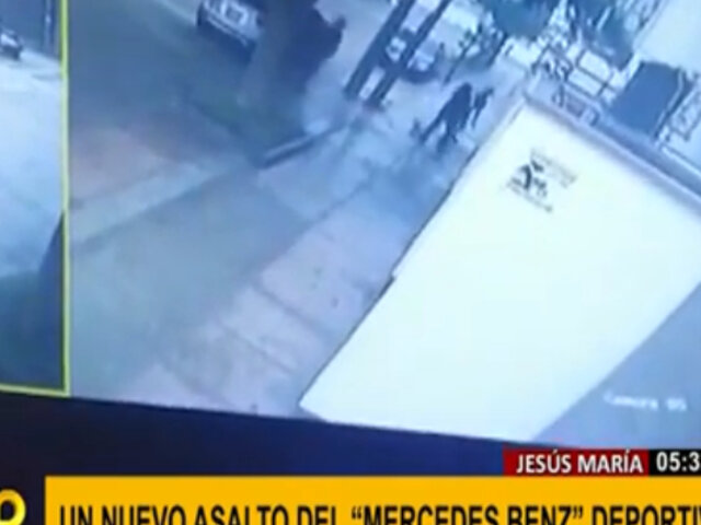 Jesús María: 'raqueteros' a bordo de lujoso Mercedes siguen al acecho de sus víctimas